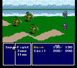 The new mechanic introduced by FF4 is not  visible in the interface.